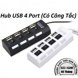 Bộ chia USB 4 cổng 2.0, có công tắc