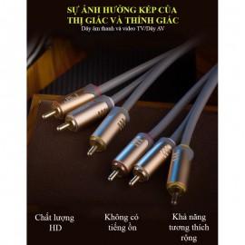Dây âm thanh và video TV 6 đầu bông sen cao cấp , dài 1.8m