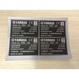 Tem decal dán mặt thùng loa Yamaha, giá 1 cặp (2 chiếc )