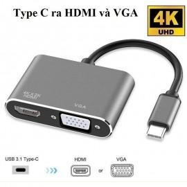 Cáp chuyển Type C ra USB, VGA 3.1
