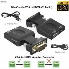 Đầu chuyển VGA có audio sang HDMI